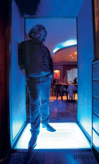 Андрей Максимов в кафе Фрейд
