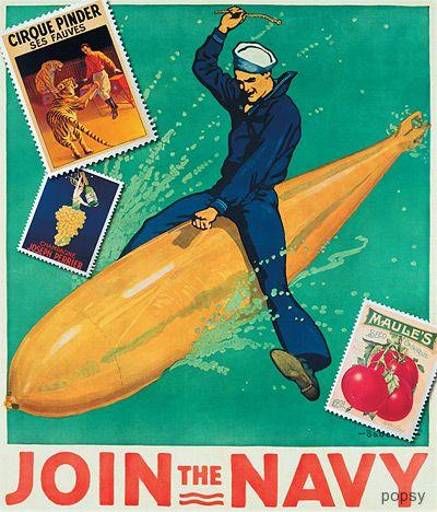 марка моряк на торпеде