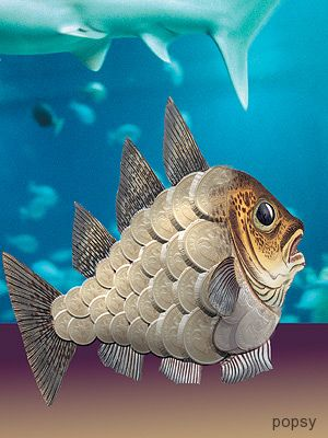 рыба из денег