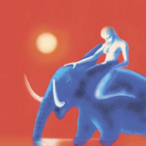 купание синего слона