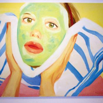 Мария Погоржельская, автопортрет в косметической маске