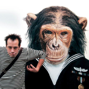 художник и обезьянки