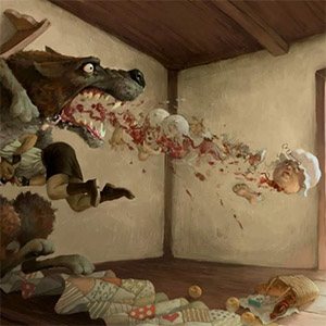 волк блюет бабушкой