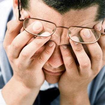 самопомощь при стрессе, снятие напряжения верхнего пояса, область глаз и висков